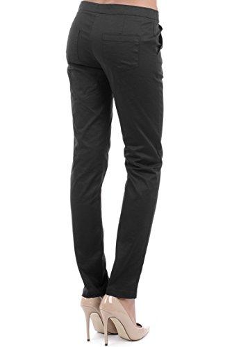 Womens Smart Skinny Fit Trousers Ladies (Large - Uk (12-14) - Brown)