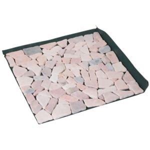 雑草が生えないおしゃれな天然石マット 6枚組 ピンク
