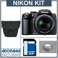 Nikon Coolpix P100 Digital Camera Kit, - Matte Black - With 4GB SD Memory Card, Camera Case, 2 Year Extended Service Coverage