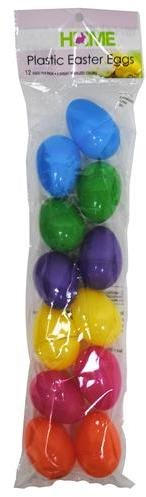 Small Bright Frost Plastic Easter Eggs - 1