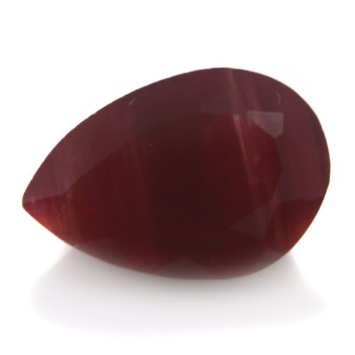 Natural Africa Red Andesine Loose Gemstone Pear Cut 7*10mm 2.20cts VS Grade