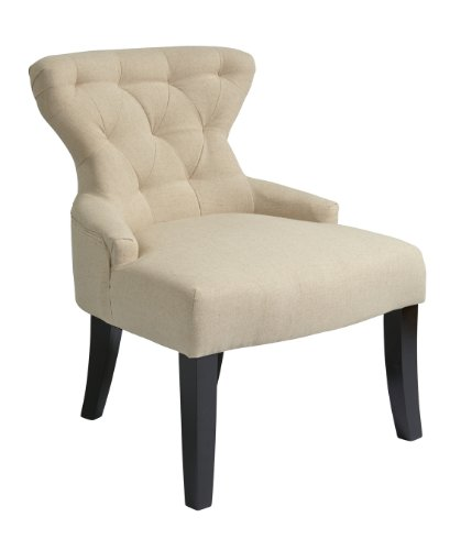 Ave Six Curves Hour Glass Chair In Linen