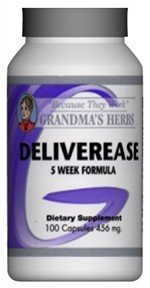 Deliverease - All Natural Herbal Formula For An Easy Delivery - Labor Regulating - 100 Capsules