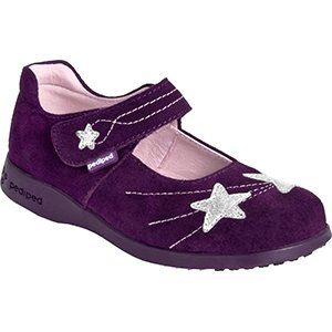 Pediped Flex Starlite Mary Jane (Toddler/Little Kid),Purple,24 Eu (7.5-8 E Us Toddler) front-106631
