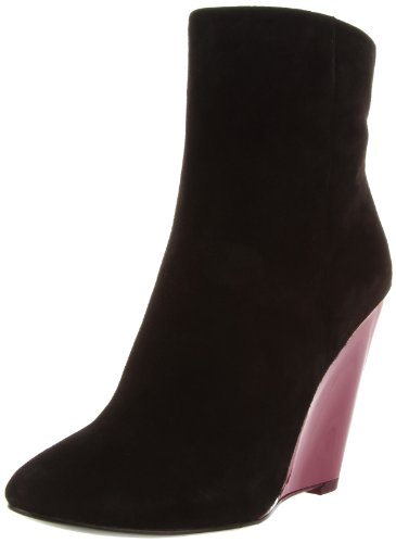 Rev Pour La Victoire Women's Ravel Ankle Boot, Black/Burgundy, 9 M US