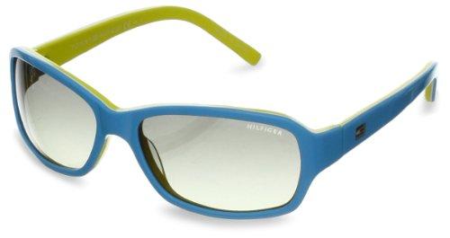 Tommy Hilfiger TH1148S Rectangular Sunglasses,Light Blue,White & Yellow,53 mm