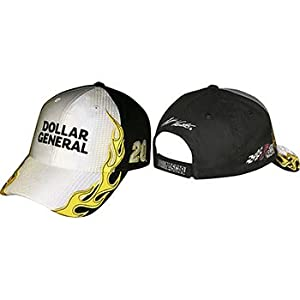 Matt Kenseth NASCAR Dollar General #20 Adjustable Hat - Silver Black with Yellow... by Checkered Flag