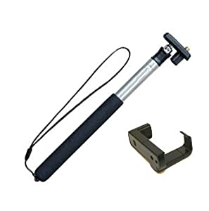 T-200L, TCPH - Extendable Handheld Monopod for Compact Camera w/ iPhone smartphone Adapter
