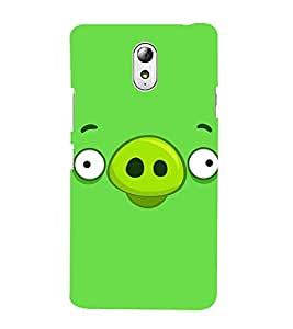 Vizagbeats Angry Bird Pig Back Case Cover for Lenovo Vibe P1m