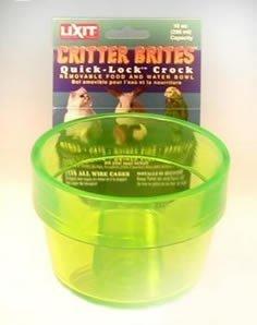Cheap Lixit 10 oz Neon Quick Lock Crock Assorted Colors (LI00510)