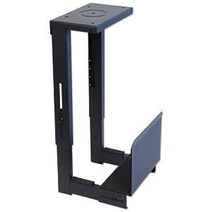 Lindy 40283 support pc pour montage sous bureau noir - Fixation pc sous bureau ...
