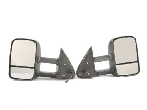 2007-2013 Chevrolet Chevy Gmc Silverado Sierra Power Heated Towing Mirror Pair 2008 2009 2010 2011 2012 2013 Tow Side View