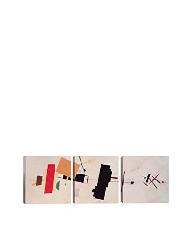 Kazimir Malevich Suprematist Composition (Panoramic) 3-Piece Canvas Print