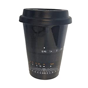 Leica 96602 Ceramic Coffee Mug, Style: Noctilux-M 50 - with Removable Lid