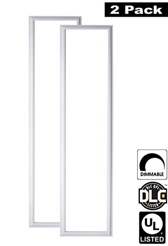 Luxrite LR24048 (2-Pack) 45W 1×4 FT LED Panel, Dimmable, Bright White 5000K, 4200 Lumens, 12×48 Inch, UL-Listed, DLC-Listed (Eligible for Rebate Programs)