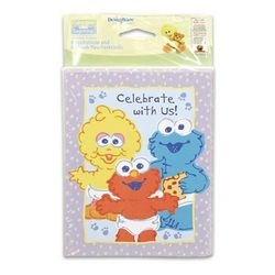 Sesame Street Beginnings Invitations and Thank You Notes - 8 Count - 1