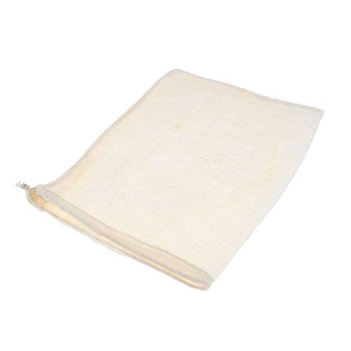 Tissu en coton réutilisable écrou lait Juice Sac filtre alimentaire à soupe - 17 cm x 21 cm