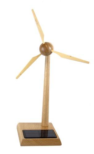 Solar Windgenerator Holz FSC 30cm, Bausatz - Wooden Windturbine FSC 30cm, kit