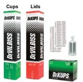 DeVILBISS DeKUPS 9 oz. STARTER KIT-HVLP Spray Paint Gun