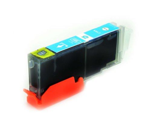 1 x kompatibel Tintenpatronen CLI-551 Cyan mit Chip für Canon Pixma: IP7250 MG5450 MG6350 MX725 MX925
