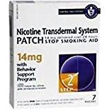 Novartis Nicotine Transdermal System Stop Smoking Aid Patch, Step 2, 14 mg - 7 ea