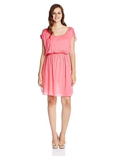 UCB Women's Skater Dress (15P4VS7V6036I_26A-Hot Pink_Medium)