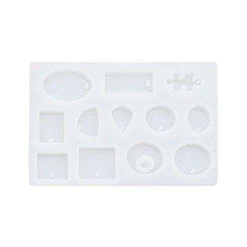 Moulessilicone Formes Variées pour Fabrication de Pendentif Charme Artisanat Bijoux Résine Diy - Clair 2