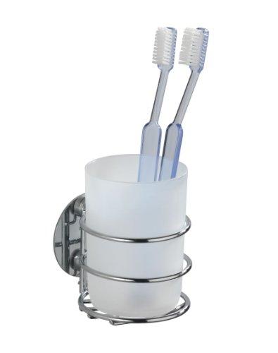 wenko-18779100-turbo-loc-bicchiere-portaspazzolini-fissaggio-senza-trapano-acciaio-polipropilene-9-x