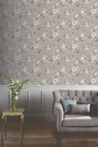 Lara Wallpaper - Taupe from New A-Brend