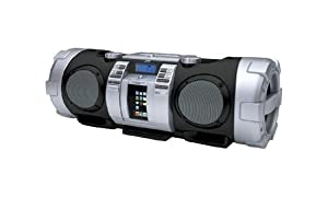 JVC RV-NB50B CD Portable Boomblaster with Integrated iPod Dock and Twin Subwoofer