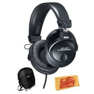 [Parallel import goods] Audio Technica Audio-Technica ATH-M30 Closed-Back Dynamic Monitor Headphone headphones Bundle with Carrying Case and Polishing Cloth