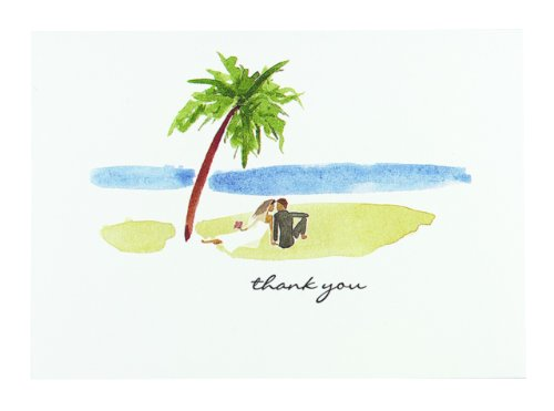 Hortense B. Hewitt Wedding Accessories Paradise Thank You Cards, 50-Pack