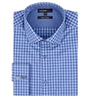 Autograph Pure Cotton Tailored Fit Gingham Checked Shirt