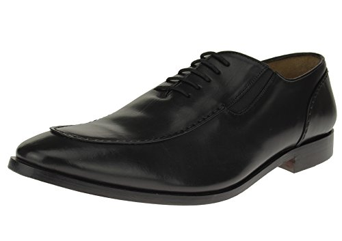 Luciano Natazzi Mens Full Leather Modern Lace-Up Dress Shoe SL306 (44.5 M EU / 11.5 D(M) US, Black) Italian Lace Shoes