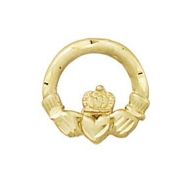 14k Claddagh Tie Tack Pin - Measures 1/2