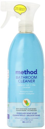 Method Tub & Tile Cleaner Spray, Eucalyptus Mint, 28 Ounce (Pack of 8)