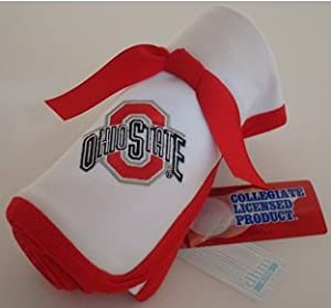 Ohio State Buckeye Baby Receiving Blanket by Future Tailgater