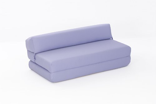 Mia Double Chair Bed in LILAC Cotton Drill