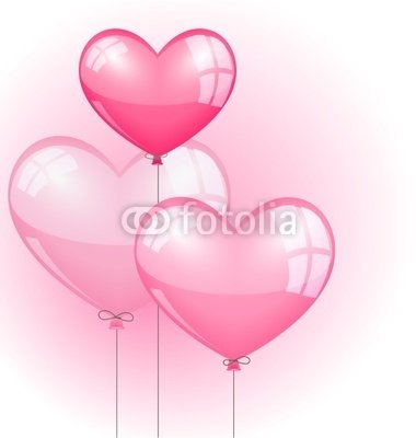 "Wallmonkeys Peel and Stick Wall Decals - Romantic Balloons Bouquet - 24""H x 23""W Removable Graphic"