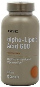 Gnc Alpha Lipoic Acid 600 Mg Capsules, 60 Count