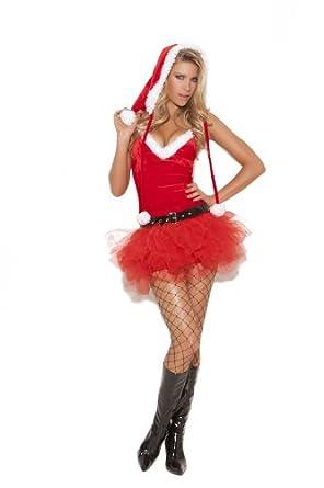 Elegant Moments Women's Santa's Sweetie, Red, X-Large
