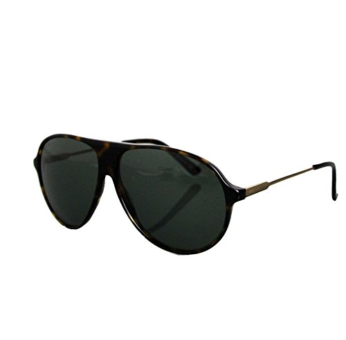 Gucci Unisex Havana Gold Aviator Sunglasses GG1649/s