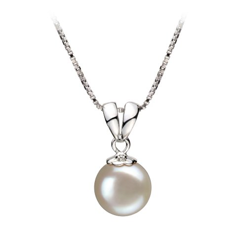 [Sally White 9-10mm AA Quality Freshwater 925 Sterling Silver Cultured Pearl Pendant] (Easy Sally Costumes)