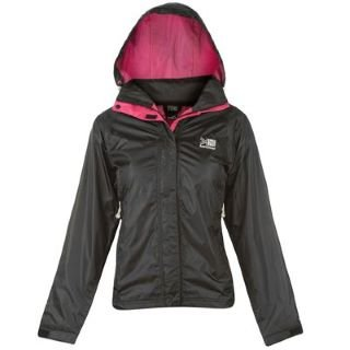 Karrimor Sierra Waterproof Jacket Ladies Black/Hot Pink 16 (XL)