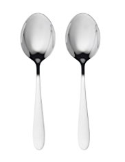 2 Stainless Steel Serving Spoons