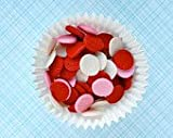 Edible Confetti Sprinkles Cake Cookie Cupcake Quins Valentine Jumbo 8 Ounces