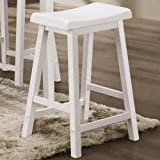 Yates 24 Wooden Bar Stool By Coaster set of 2 by Coaster Home Furnishings