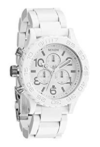 Nixon 42-20 Chrono Watch All White/Silver, One Size
