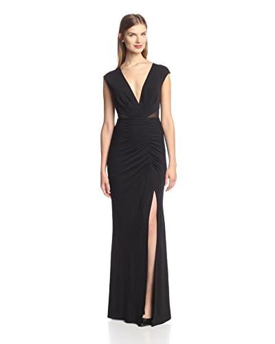A.B.S. by Allen Schwartz Women's Deep V-Neck Fitted Gown