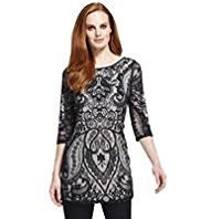 M&S Collection Baroque Paisley Lace Tunic